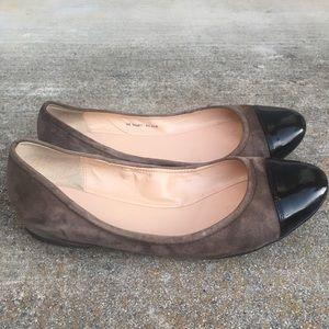 EUC  Cole Haan Flat patent suede 2 tones flat shoe